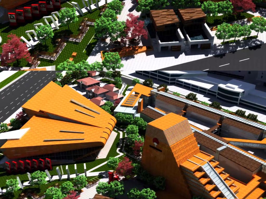 max日式博物馆含伪满皇宫旧址动画场景图片下载max素材 其他模型图片