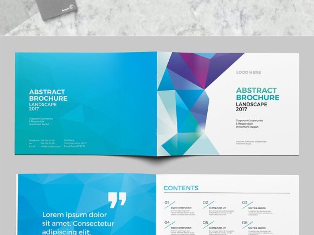 用企业宣传画册InDesign模板图片