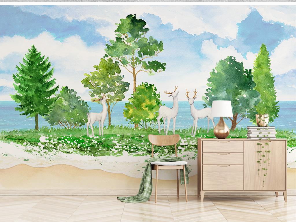 树林手绘平面图
