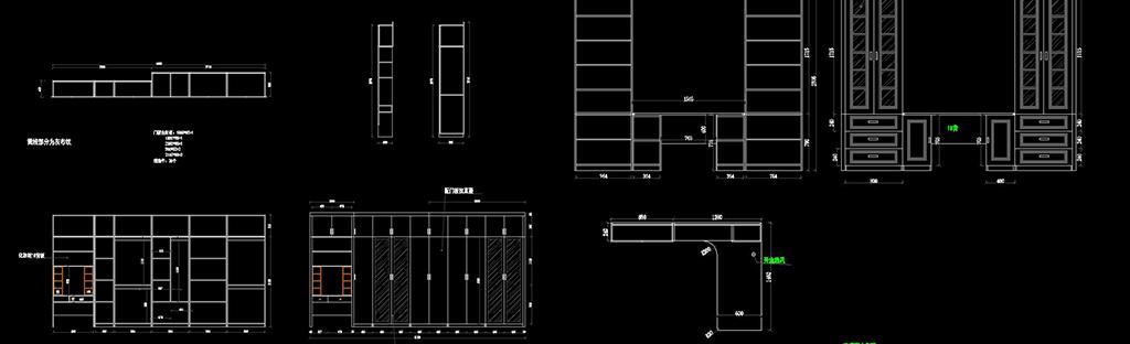 cad整木家具设计图纸榻榻米柜子酒柜衣柜