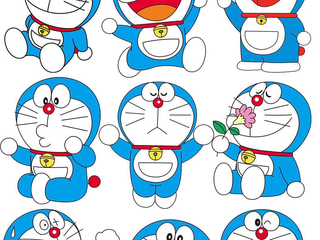 设计元素 人物形象 动漫人物 > 可爱卡通叮当猫哆啦a梦素材元素  素材