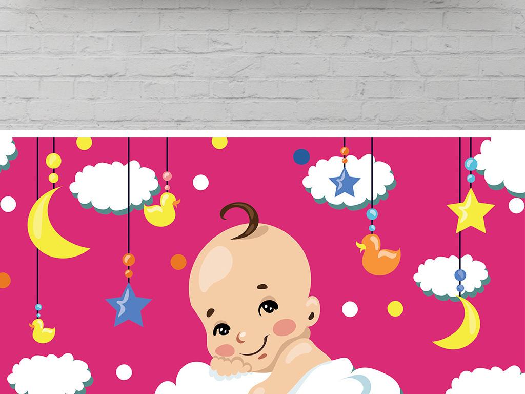 海报设计 创意海报 pop海报 > 扁平手绘可爱卡通月嫂保姆中介业务介绍