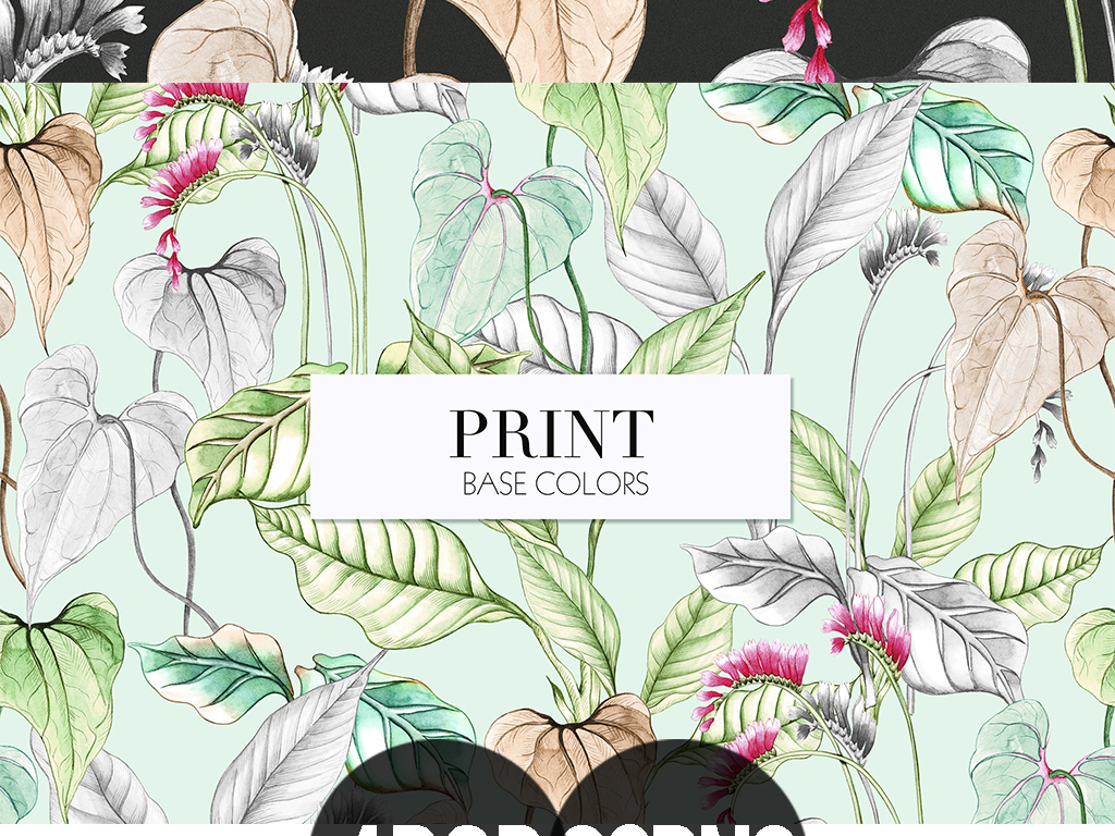 高清手绘水彩森系花卉花鸟图案免扣设计元素