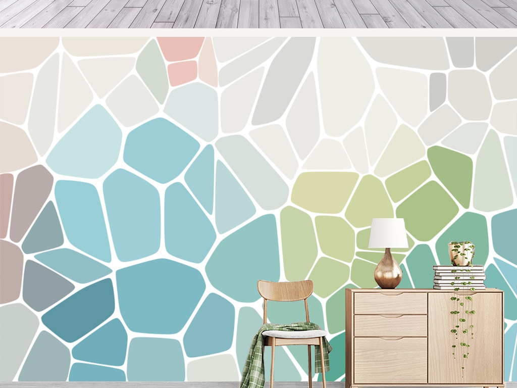 背景墙|装饰画 电视背景墙 手绘电视背景墙 > 现代简约彩色色块几何