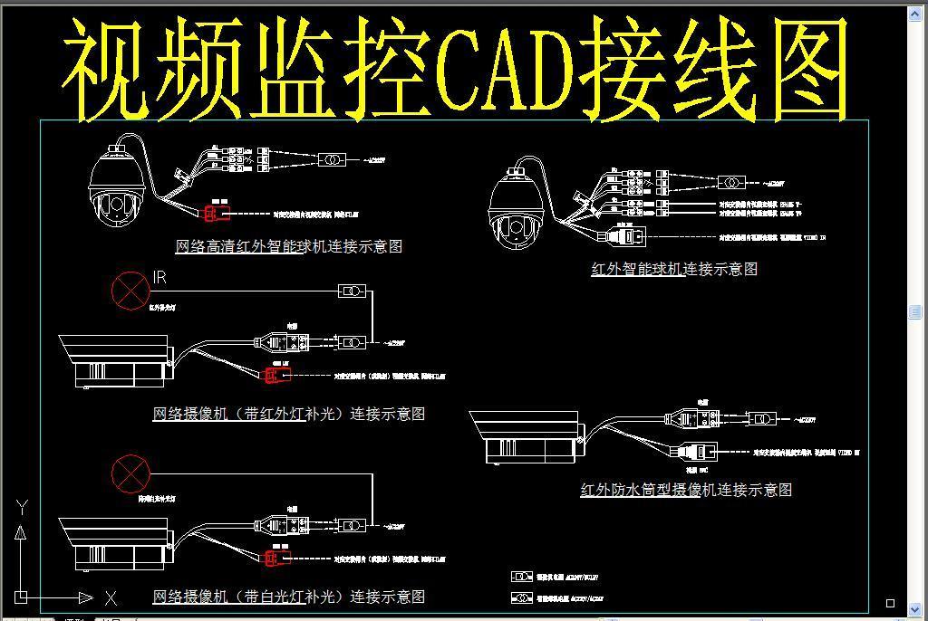视频监控cad接线图
