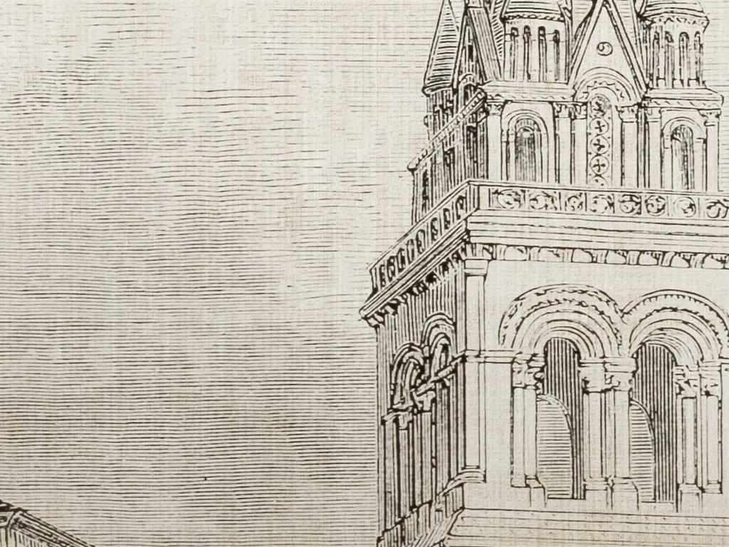 背景墙 电视背景墙 美式背景墙 > 北欧复古铁塔建筑背景墙  素材图片