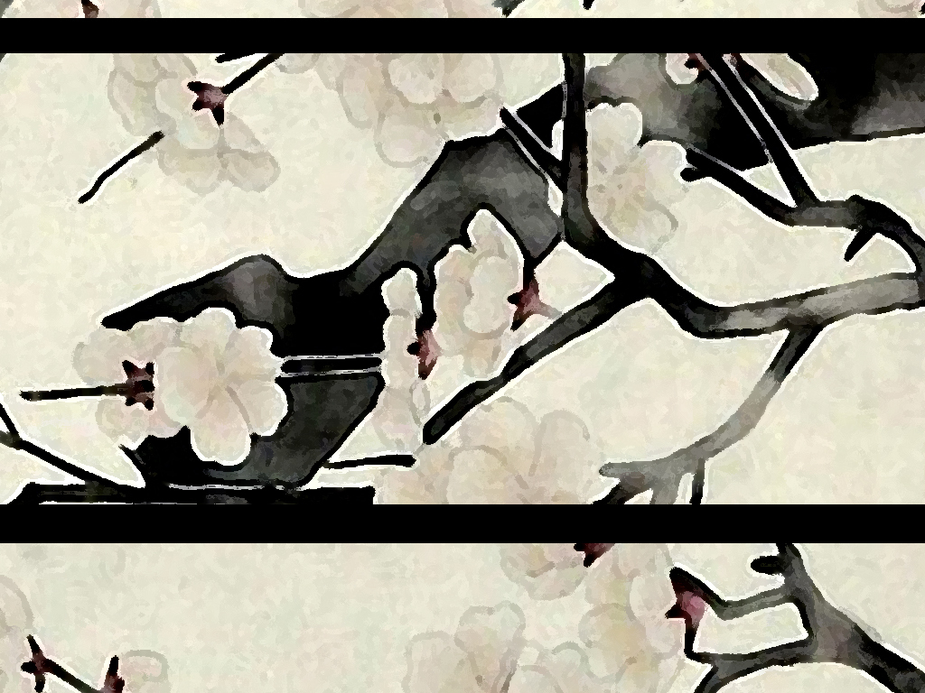 手绘白梅壁画背景墙图片设计素材_高清模板下载(26.)
