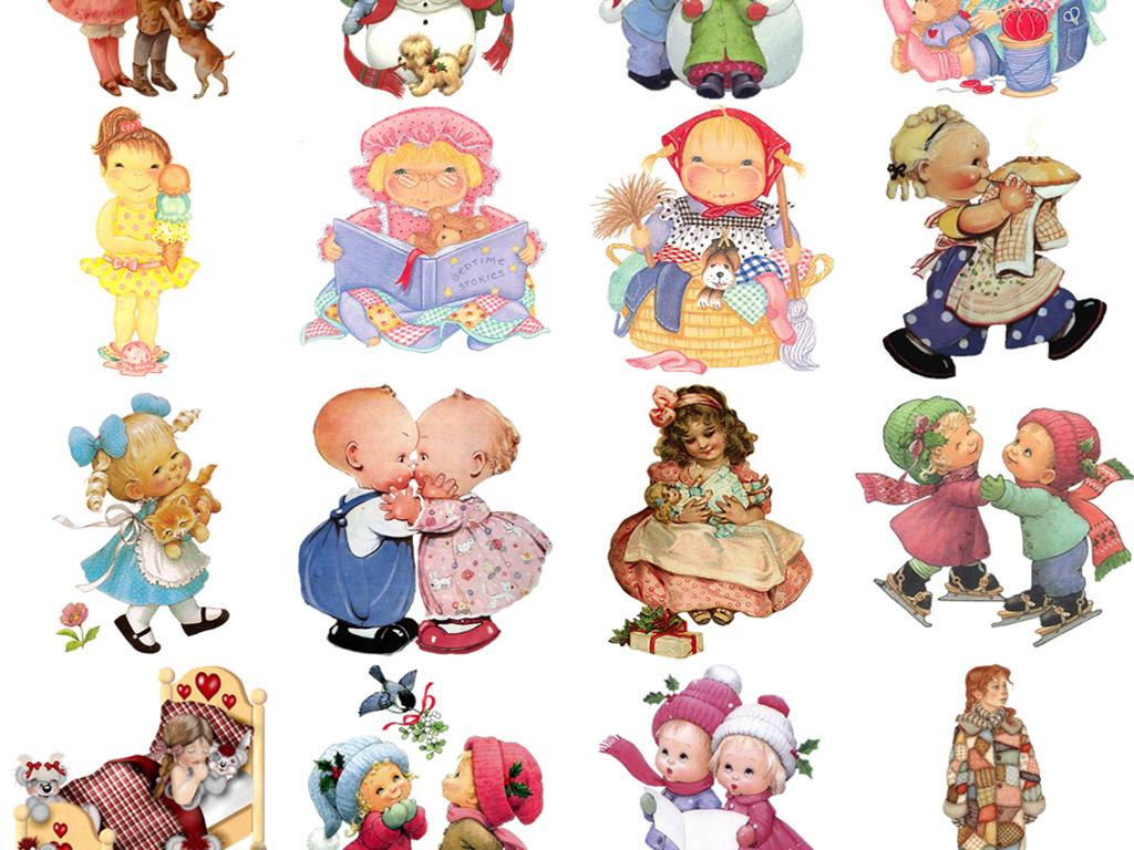 设计元素 人物形象 动漫人物 > 50款卡通手绘小孩png素材  素材图片
