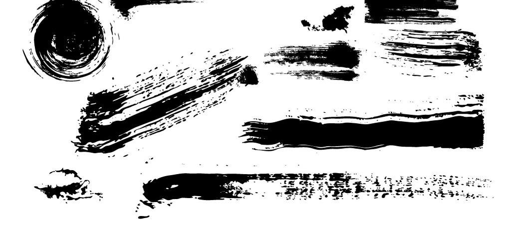 字古风偏旁部首笔画促销标签图片素材 ai模板下载 5.85MB 欧式边框