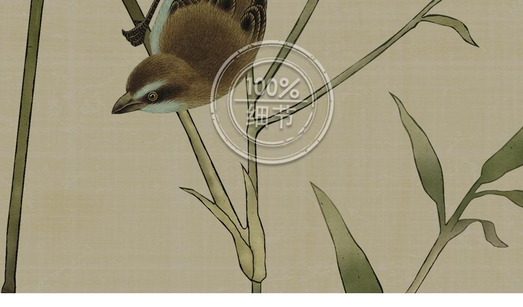 手绘工笔四君子之竹复古诗画中式无框装饰画