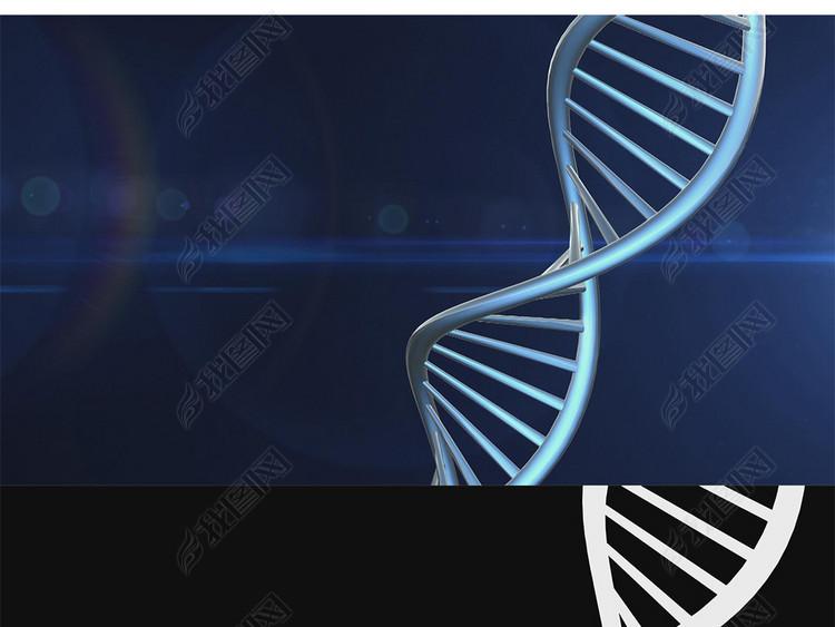DNA链旋转3D视频