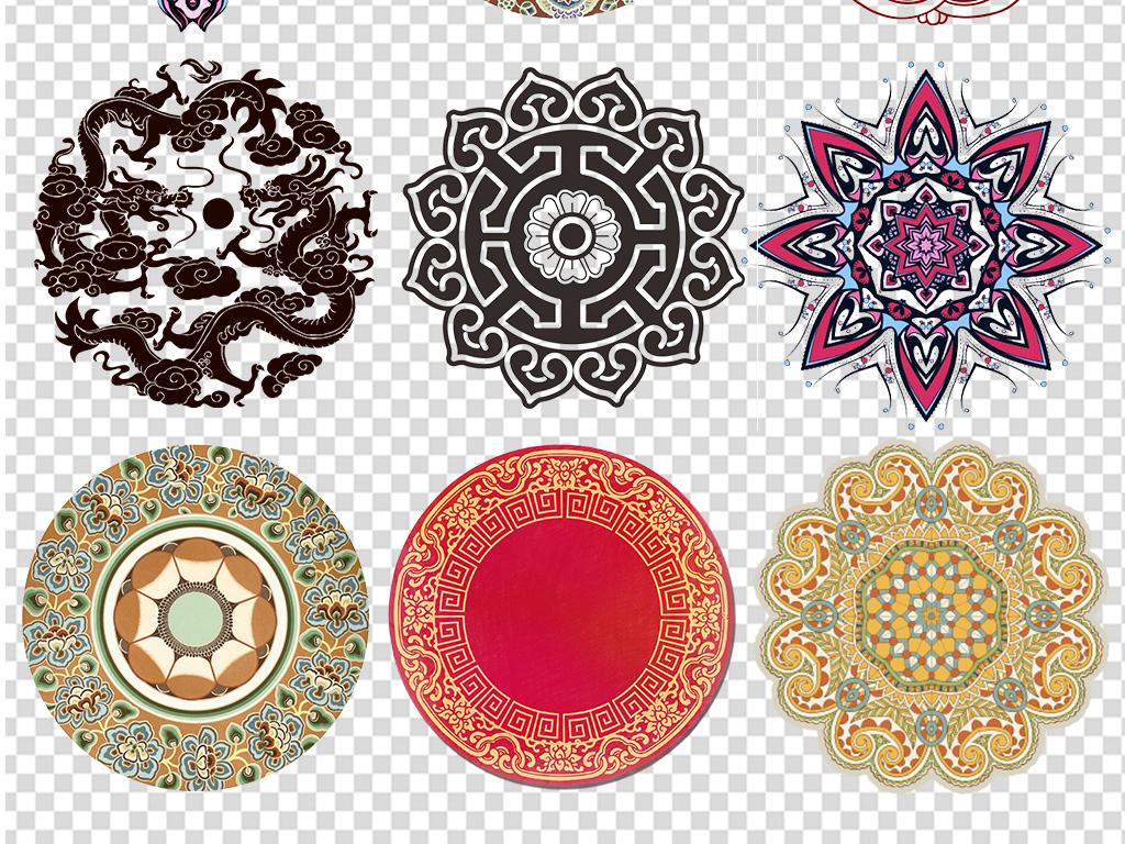 民族风古典传统图案服饰花纹纹样图案合集图片下载png素材 其他图片