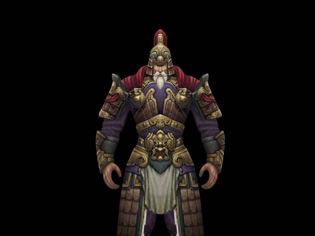 3d游戏人物角色英雄将军模型