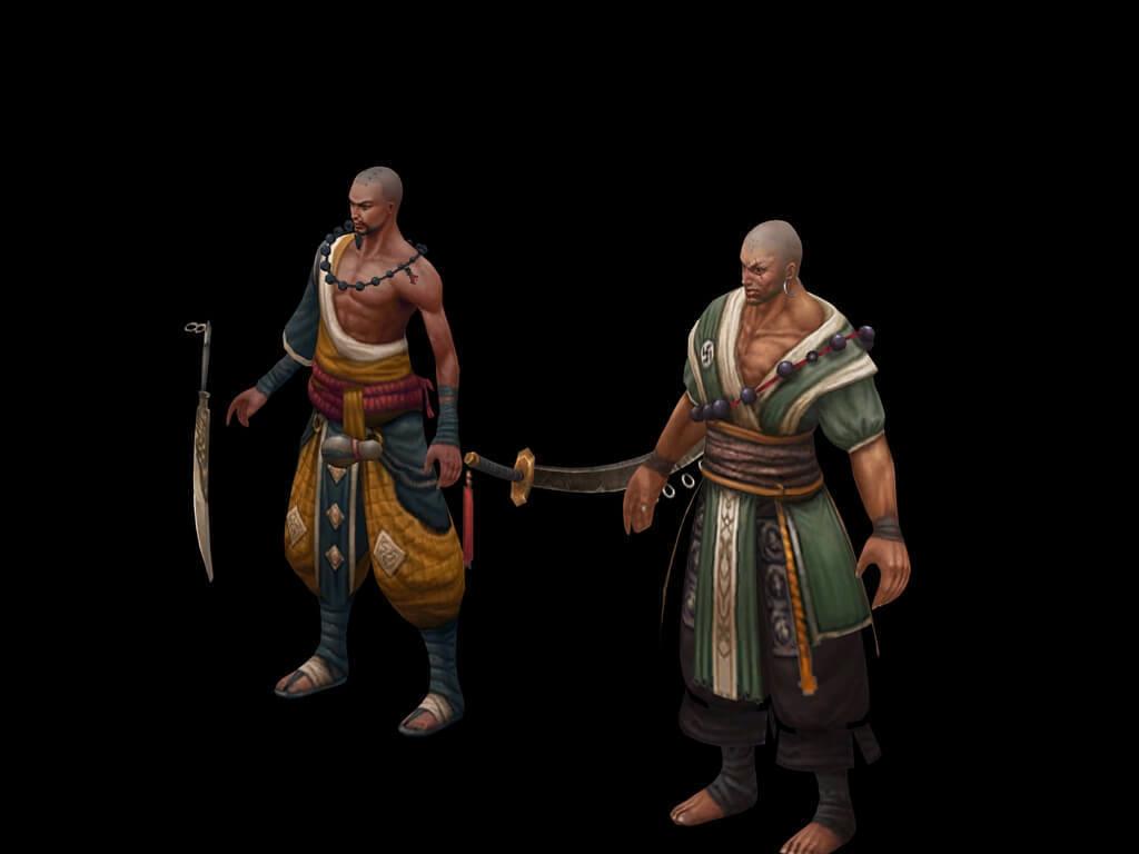 3d游戏角色英雄和尚模型