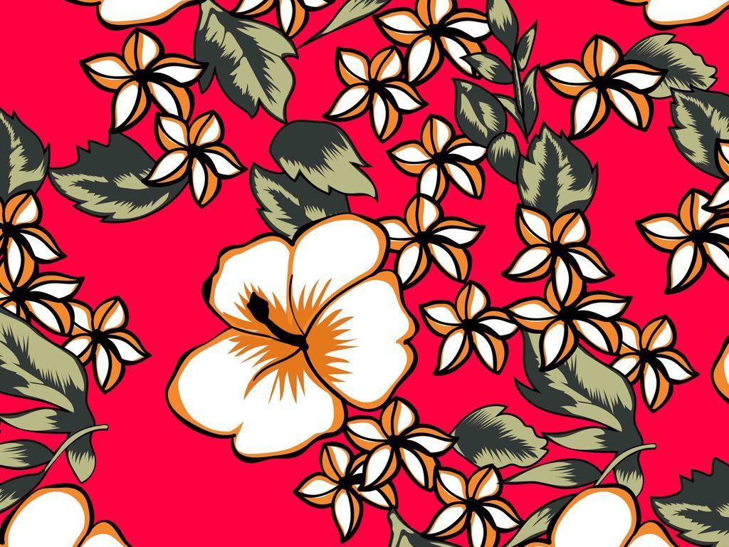 时尚手绘花卉图案