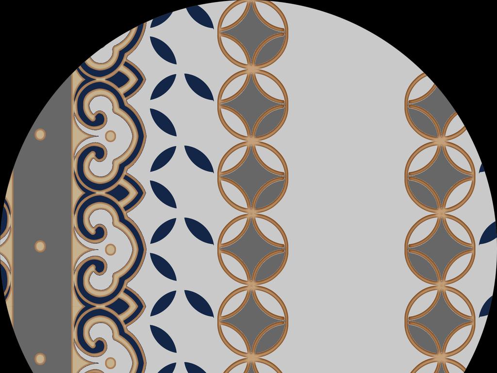 民族服饰纹样-软件 : Photoshop CS6(.psd)   颜色模式 : CMYK   欧式风花纹墙纸图图片