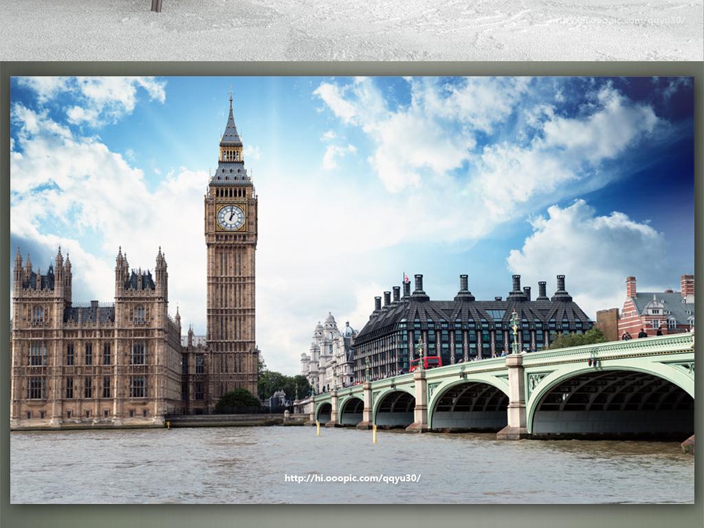 背景墙 装饰画 电视背景墙 3d电视背景墙 > 英国伦敦泰晤士河大本钟