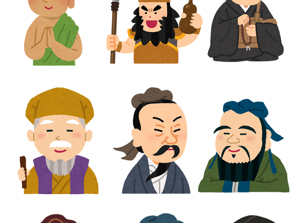 古代人物卡通诗人古风人物免抠png素材