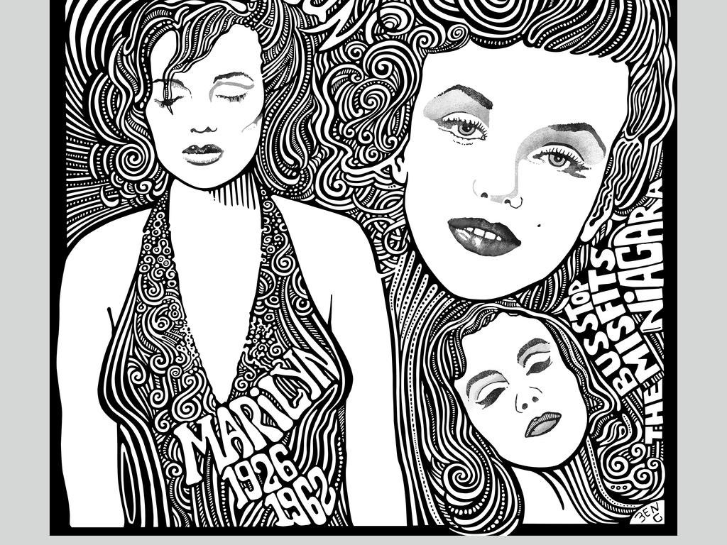 黑白流行手绘海报