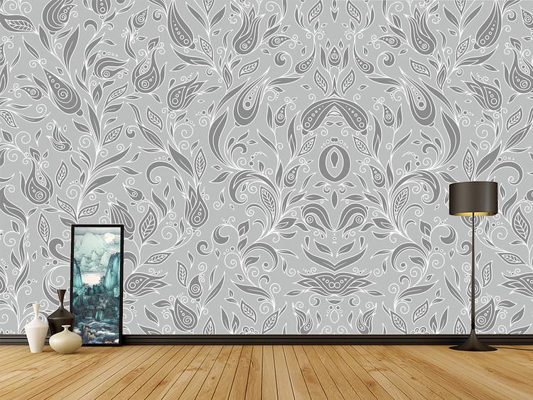 现代简约时尚叶子墙纸