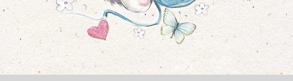 简约小清新森系手绘小动物装饰画