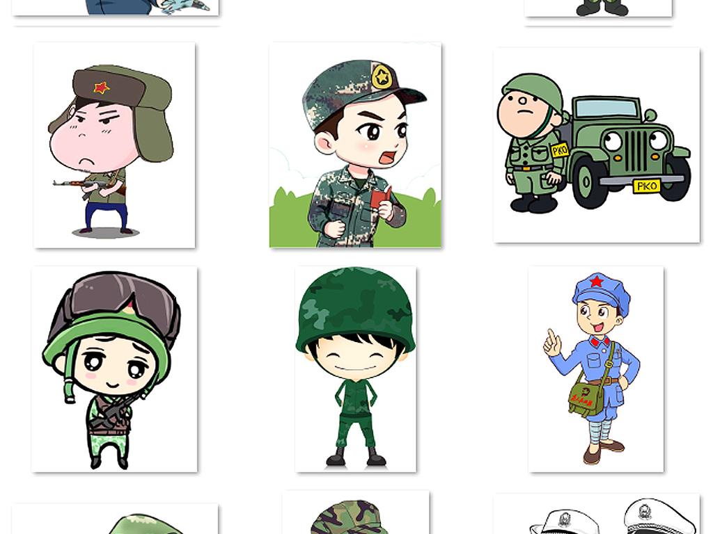 免抠元素 花纹边框 中国风边框 > 卡通红军军人小兵人物png透明免扣素
