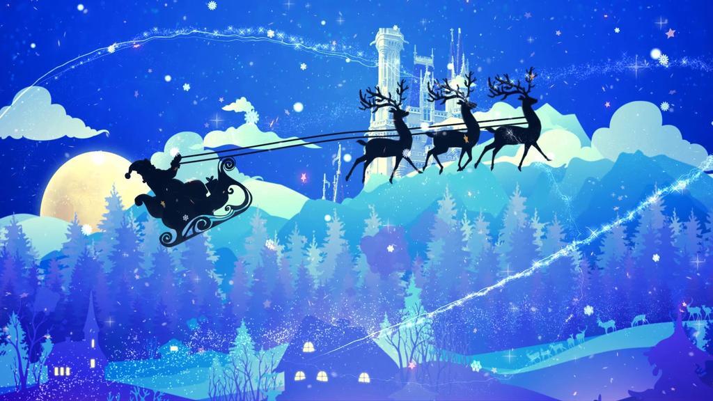 铃儿响叮当圣诞节唯美背景视频