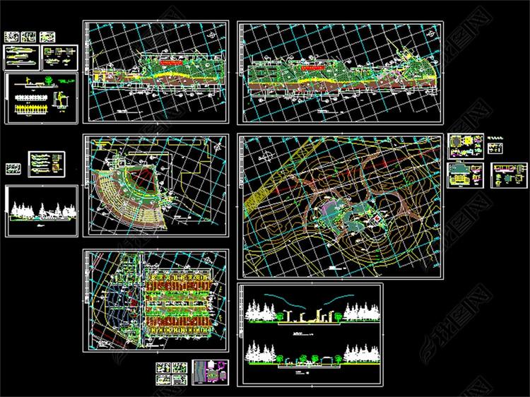 公园CAD全套景观绿化施工图