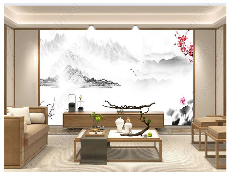 高端新中式客厅大厅装饰样机