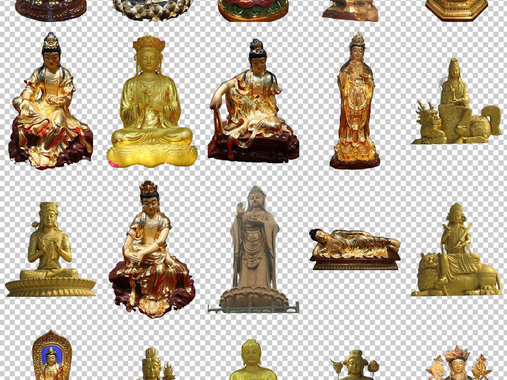 各种佛教雕像图片免抠png透明素材