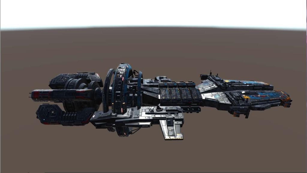 U3D太空战舰整套宇宙飞船科幻战舰图片下载fbx素材 游戏动漫图片