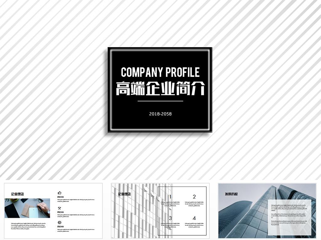 高端商务公司介绍企业文化品牌简介ppt图片
