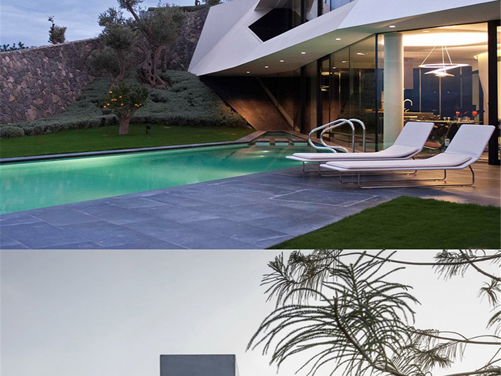 国外庭院别墅屋顶花园装修室内设计效果图
