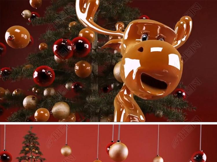 快乐的圣诞节展示动画视频素材