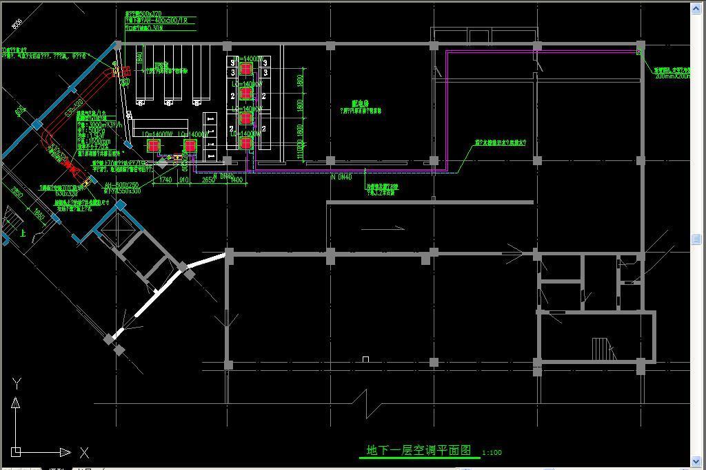 空调设备cad安装示意图平面设计图下载(图片0.38mb)