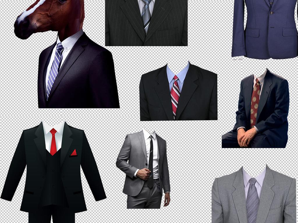 男士女士证件照寸照西装正装服饰模板