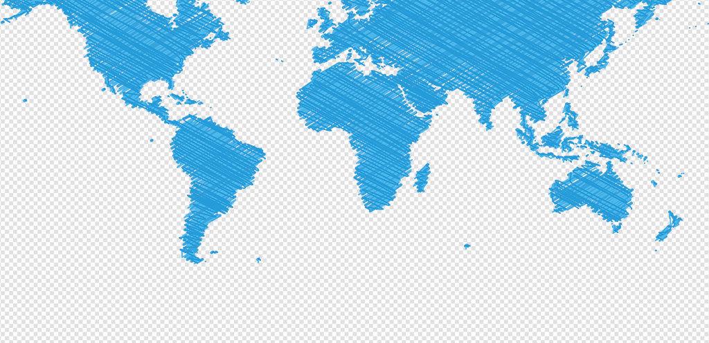 彩色高清世界地图PNG元素世界地图PPT元素 15