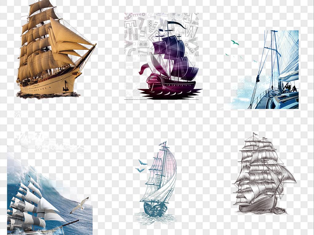 卡通轮船航海图片海报素材图片