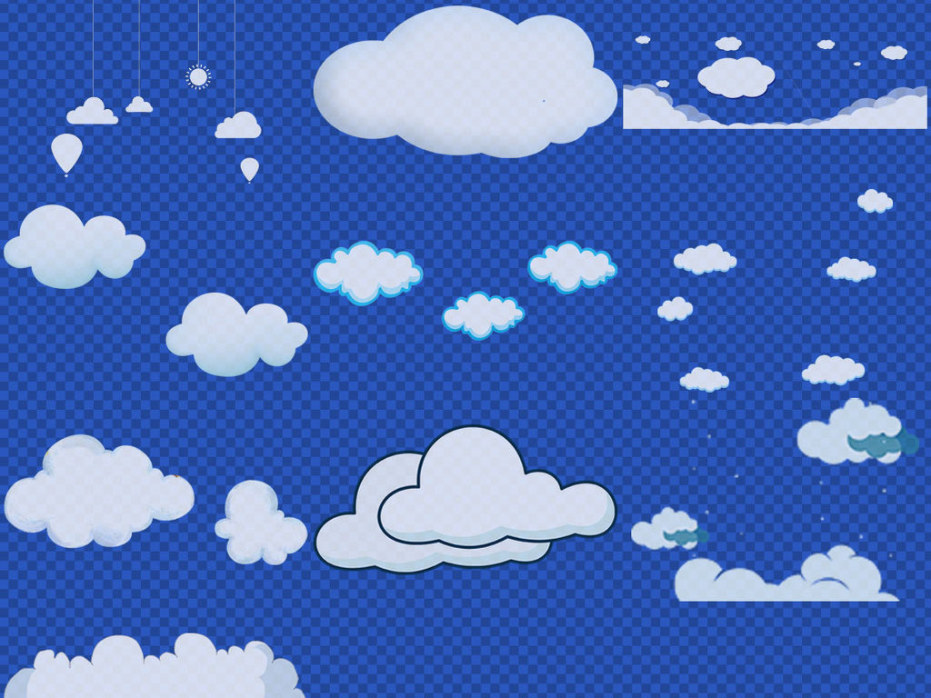 卡通手绘云朵白云图片png免抠素材