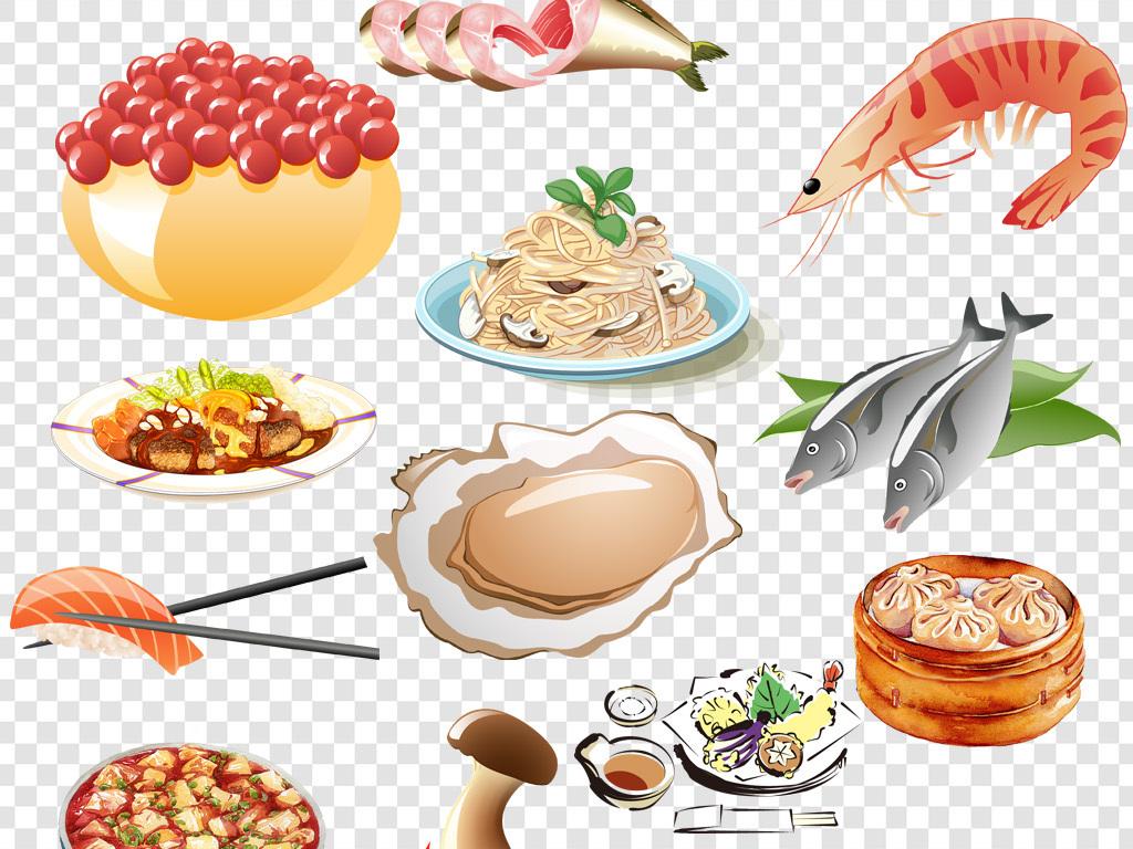 卡通手绘美味食物png海报素材