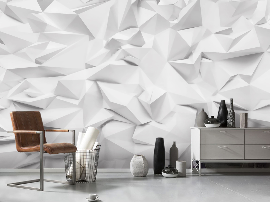 现代简约3d立体几何图形壁画电视背景墙(图片编号:)图片