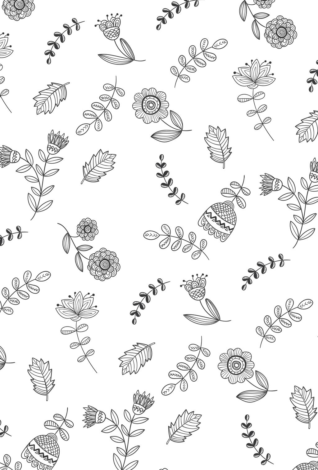 手绘植物面料图案设计