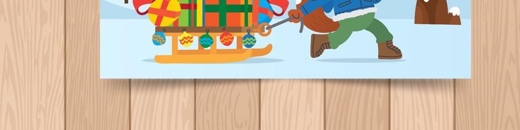 平面|广告设计 节日设计 圣诞节 > 手绘卡通小动物圣诞节明信片