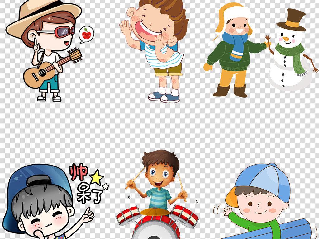 设计元素 人物形象 儿童 > 卡通儿童小学生幼儿男孩学习素材元素