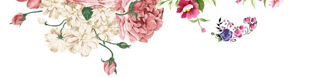 彩色手绘花花束手捧花背景png设计