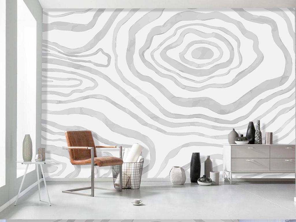 背景墙 电视背景墙 手绘电视背景墙 > 北欧手绘几何山脉图案线条客厅