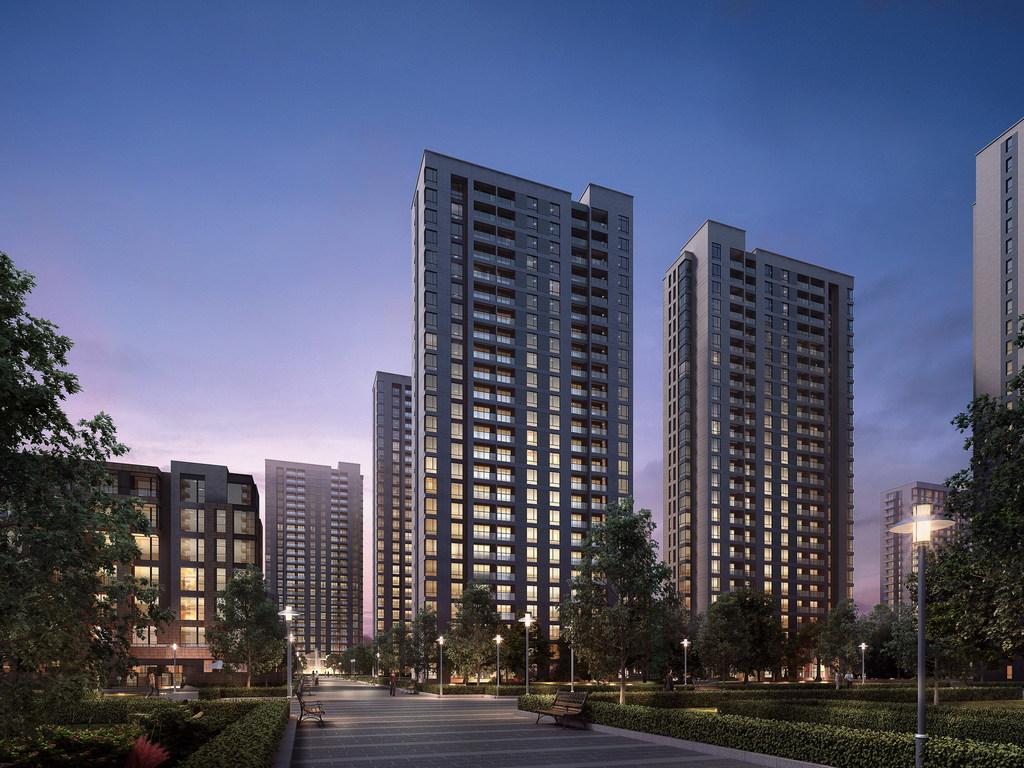 高层住宅模型效果图模型建筑动画场景