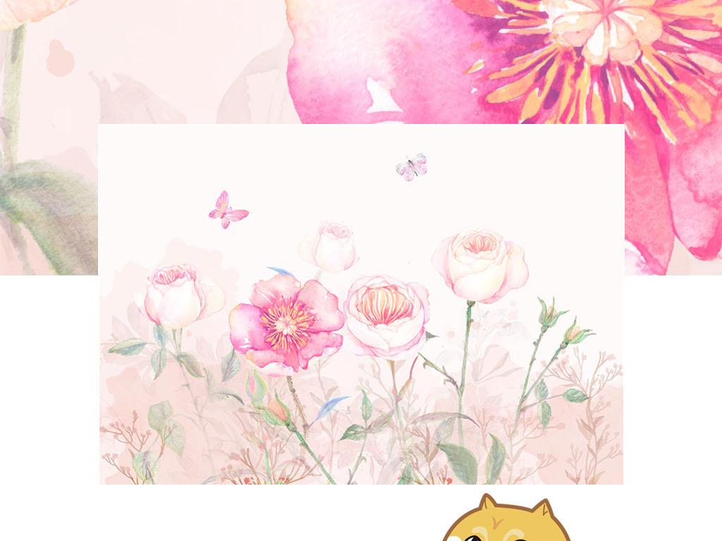 背景墙|装饰画 电视背景墙 欧式电视背景墙 > 北欧手绘玫瑰花丛沙发