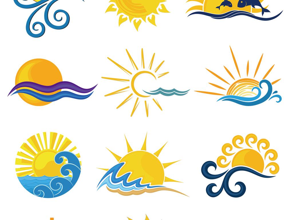 矢量手绘卡通太阳素材太阳元素商标标志设计