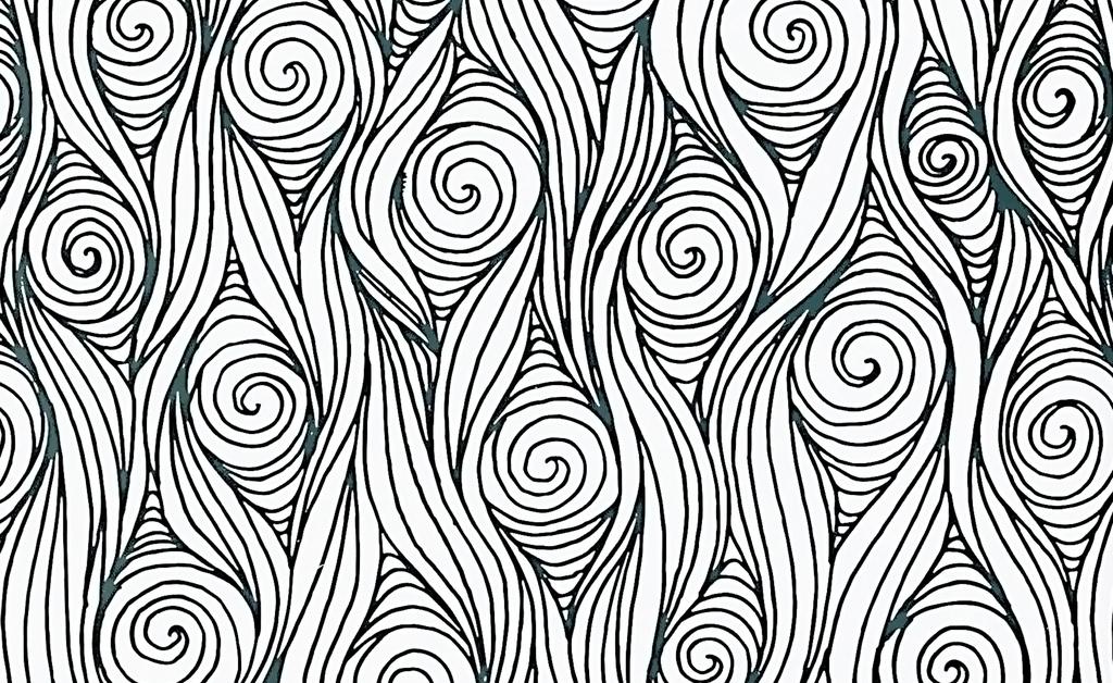线描手绘黑白抽象几何背景工笔画手绘背景工笔画背景螺纹手绘工笔画